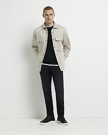 Black faded slim fit jeans