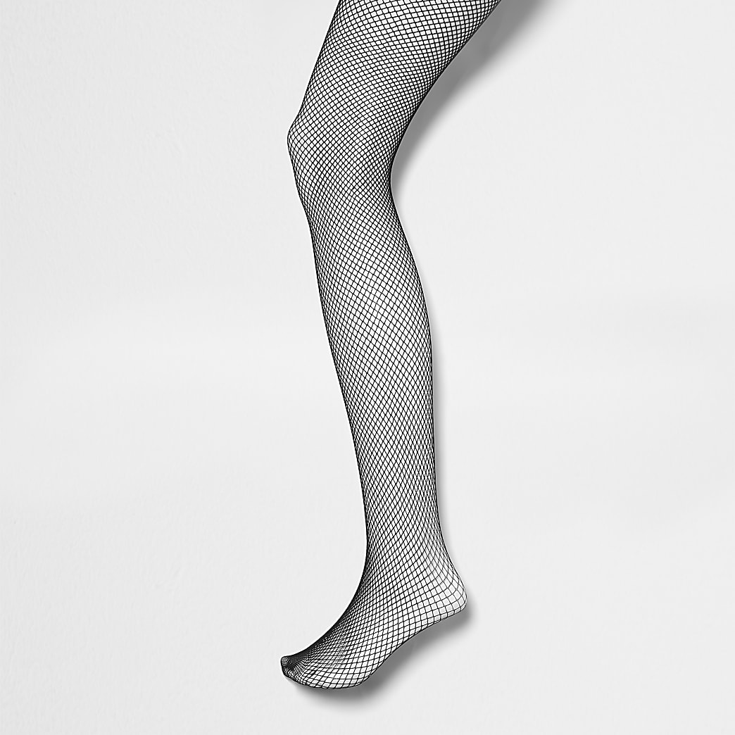 Black fine fishnet tights
