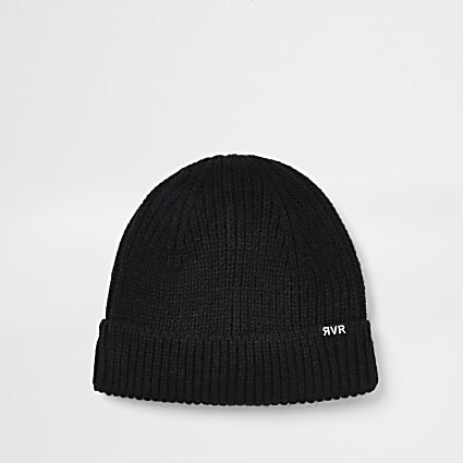 Black fishermen beanie hat