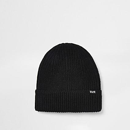 Black fishermen beanie hat
