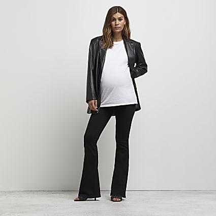 Black flare maternity jeans