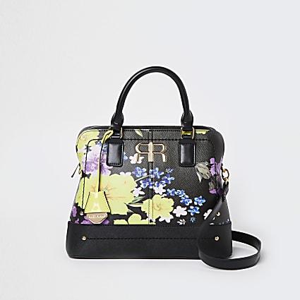 Black floral bag