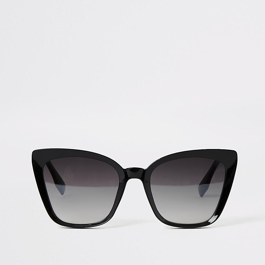 Cateye-Sonnenbrille mit schwarzem Rahmen