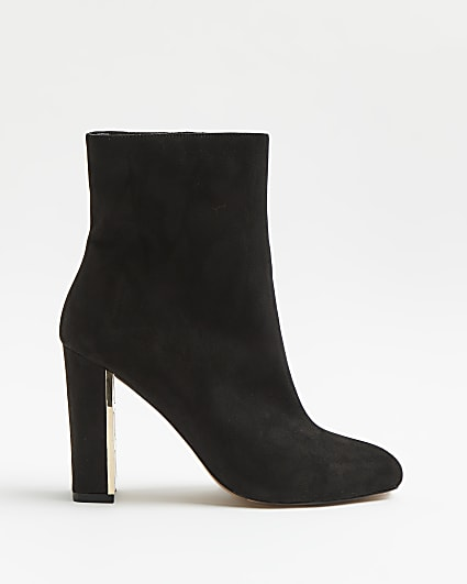 Black heeled ankle boots