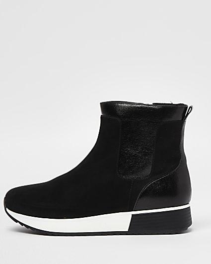 Black high top boots