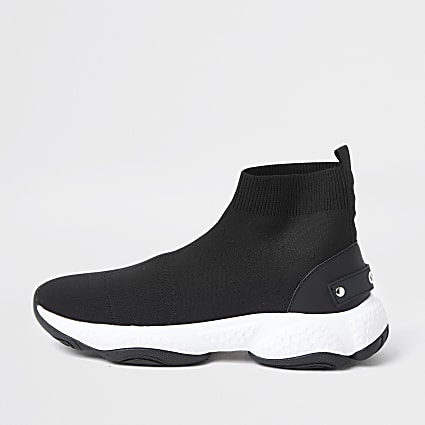Black high top sock runner