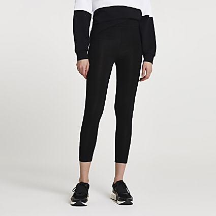 Black high waisted cropped leggings