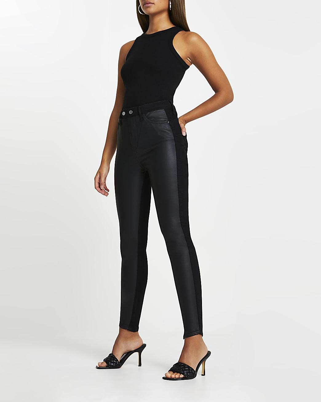 Black high waisted skinny bum sculpt jeans