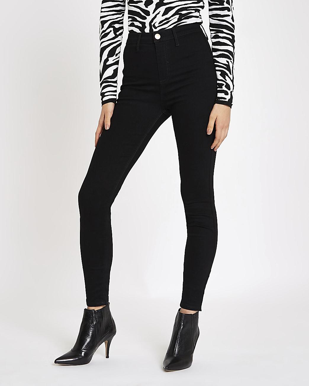 Black high waisted skinny jeans