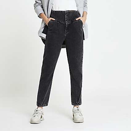 Black High waisted Straight jean