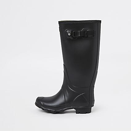 Black Hunter patent boots