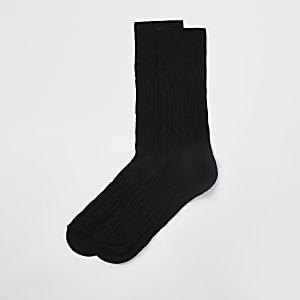 Schwarze Jacquard-Socken