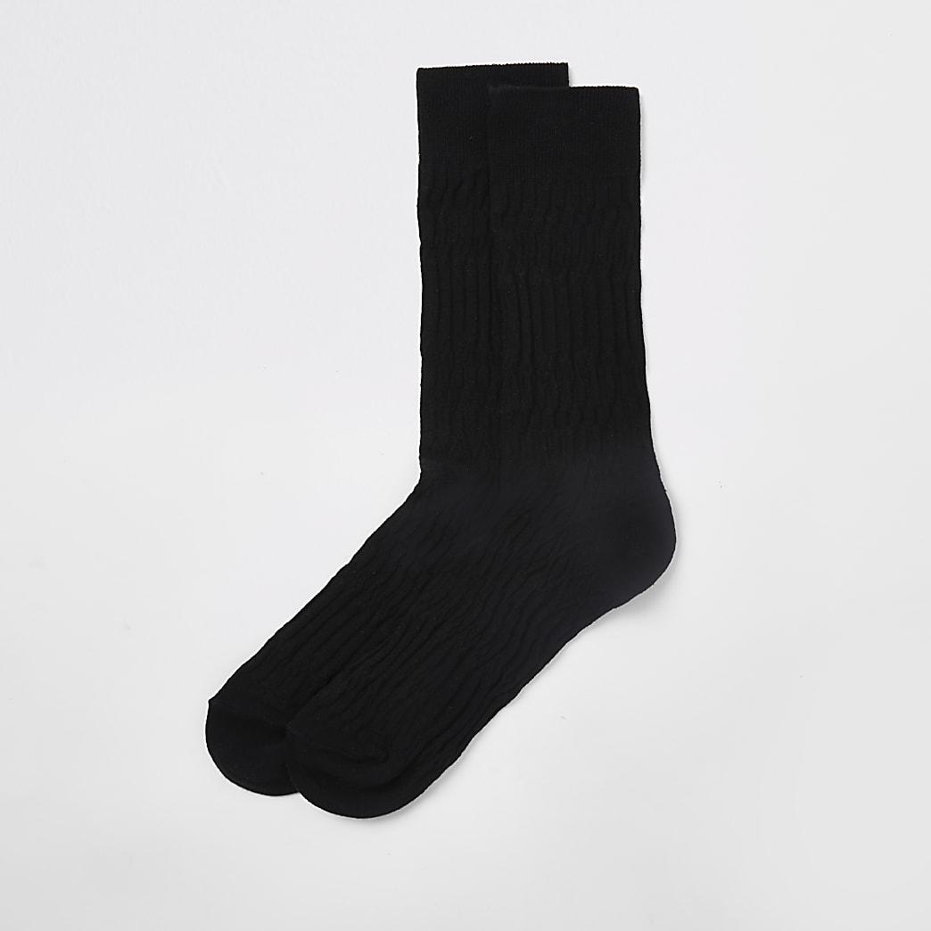 Chaussettes jacquard noires
