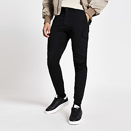 Black Jimmy tapered cargo trousers