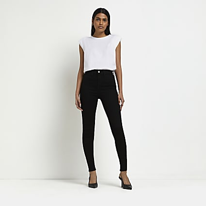 Black Kaia high waist disco jeans
