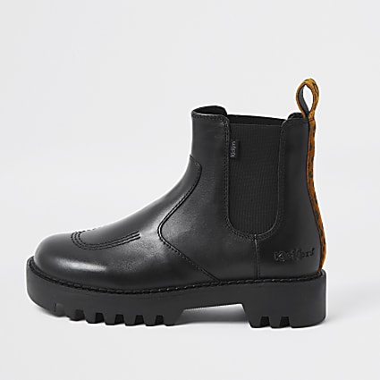 Black Kickers Chelsea ankle Boot