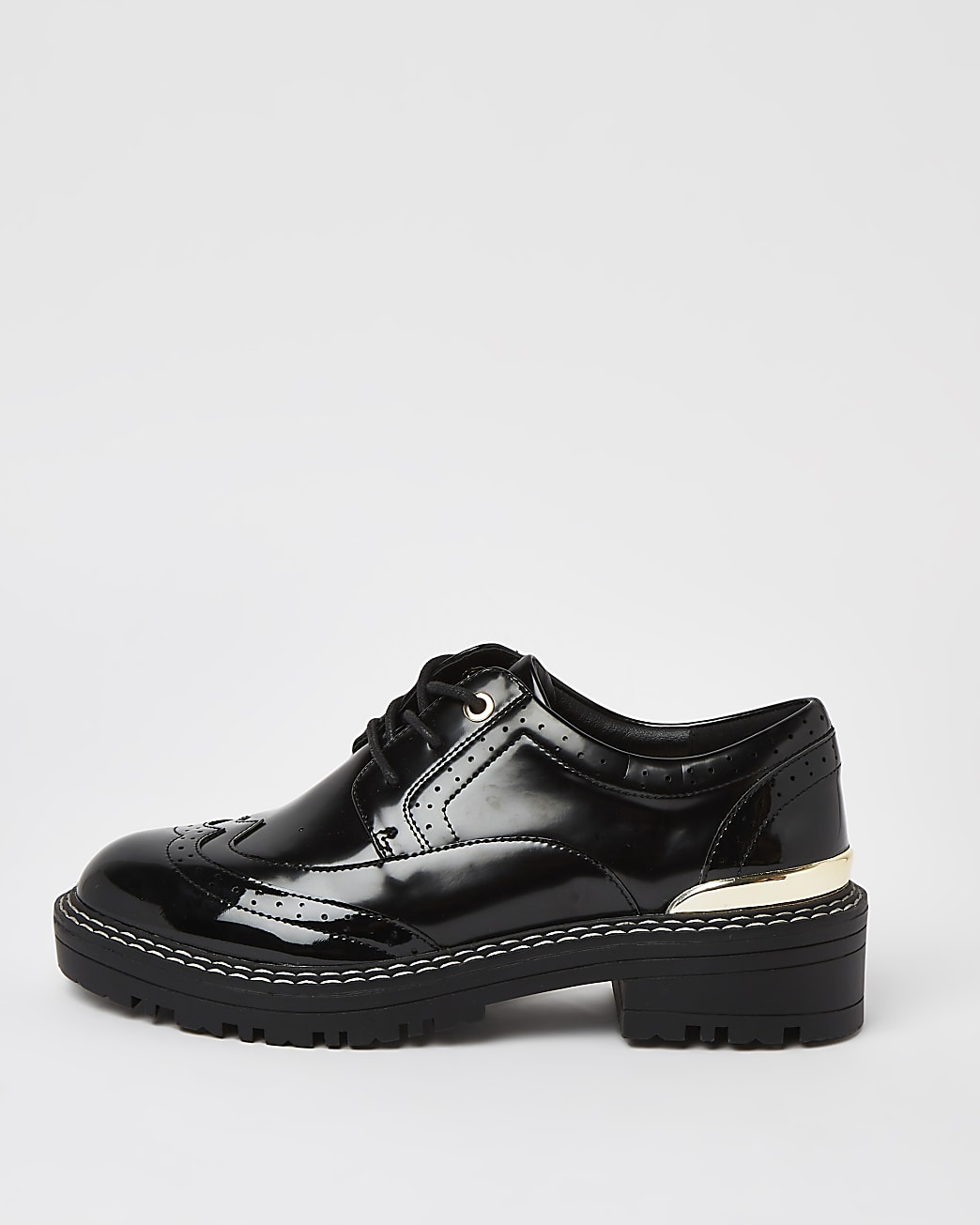 Black lace up brogue shoes