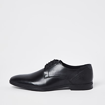 Black lace up derby shoes