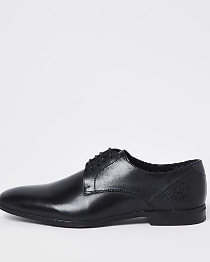 Black lace up derby shoes