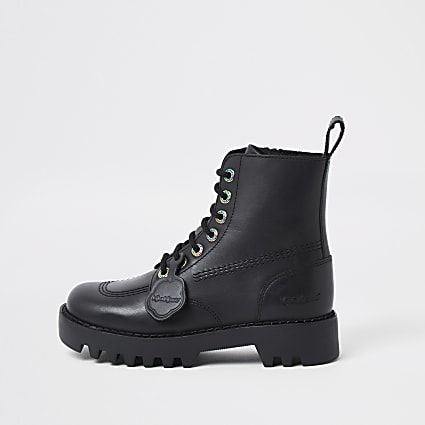 Black lace up Kickers boot