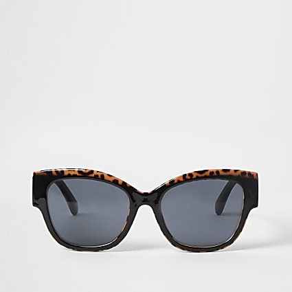 Black leopard print sunglasses