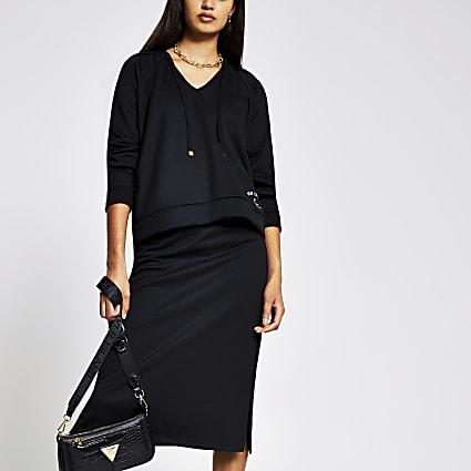 Black long sleeve hoody