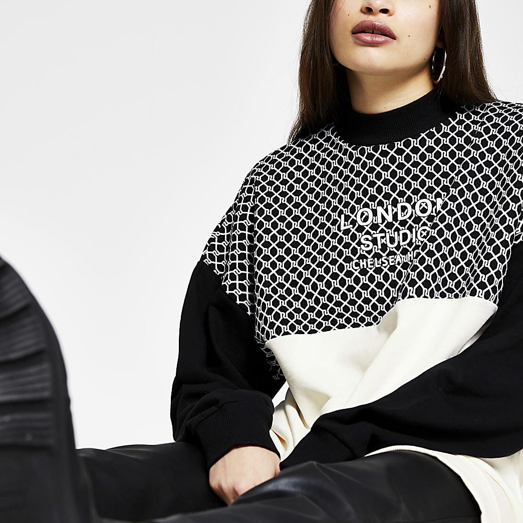 Black long sleeve 'London' RI sweatshirt