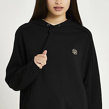 Black long sleeve 'RR' hoodie