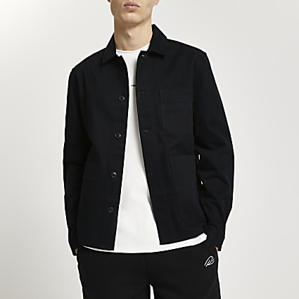 Black long sleeve shacket