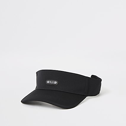 Black LVII visor hat