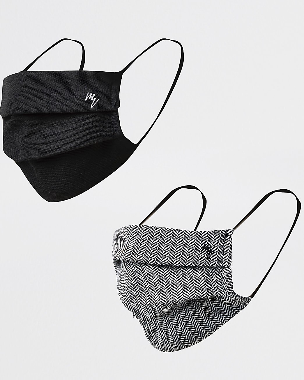 Black Maison Riviera face covering pack of 2
