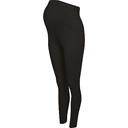 Black maternity high waisted leggings