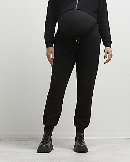 Black maternity joggers