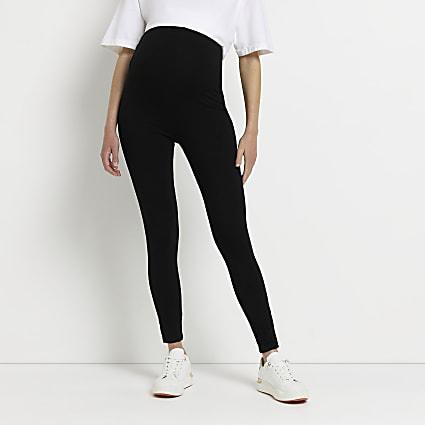 Black maternity leggings pack of 2