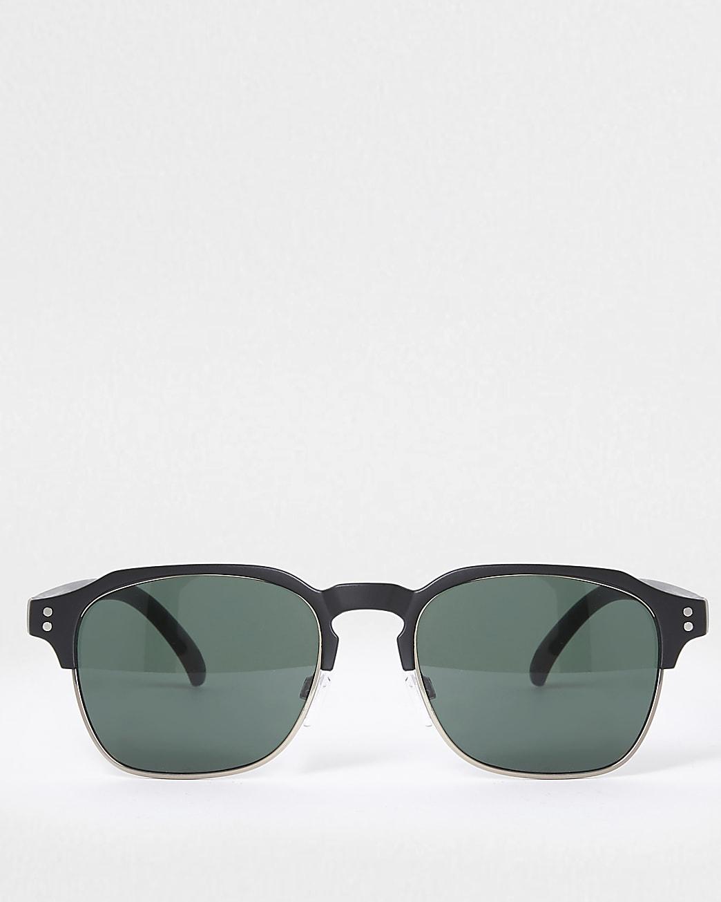 Black matte framed sunglasses