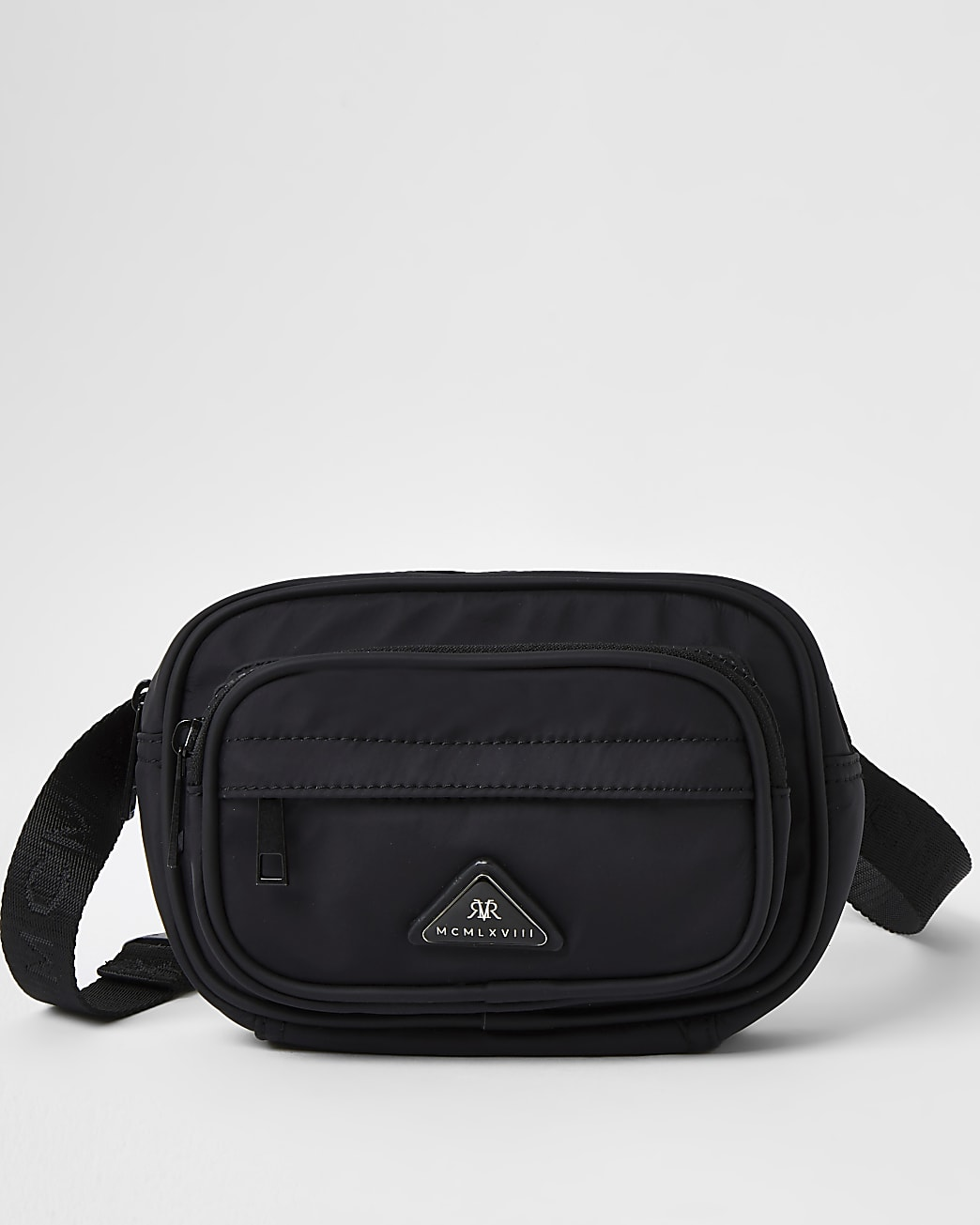 Black MCMLX cross body bag