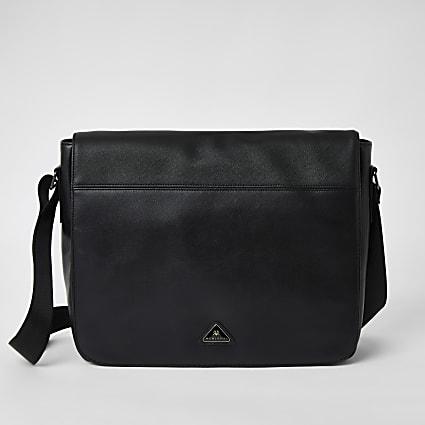 Black MCMLX fold over bag