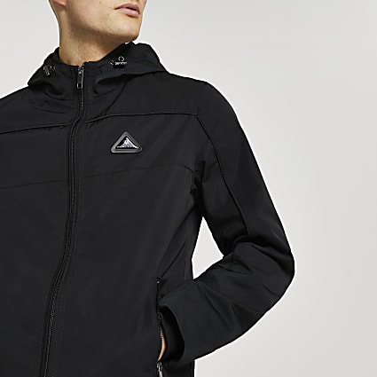 Black MCMLX hooded jacket