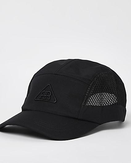 Black mesh panel cap