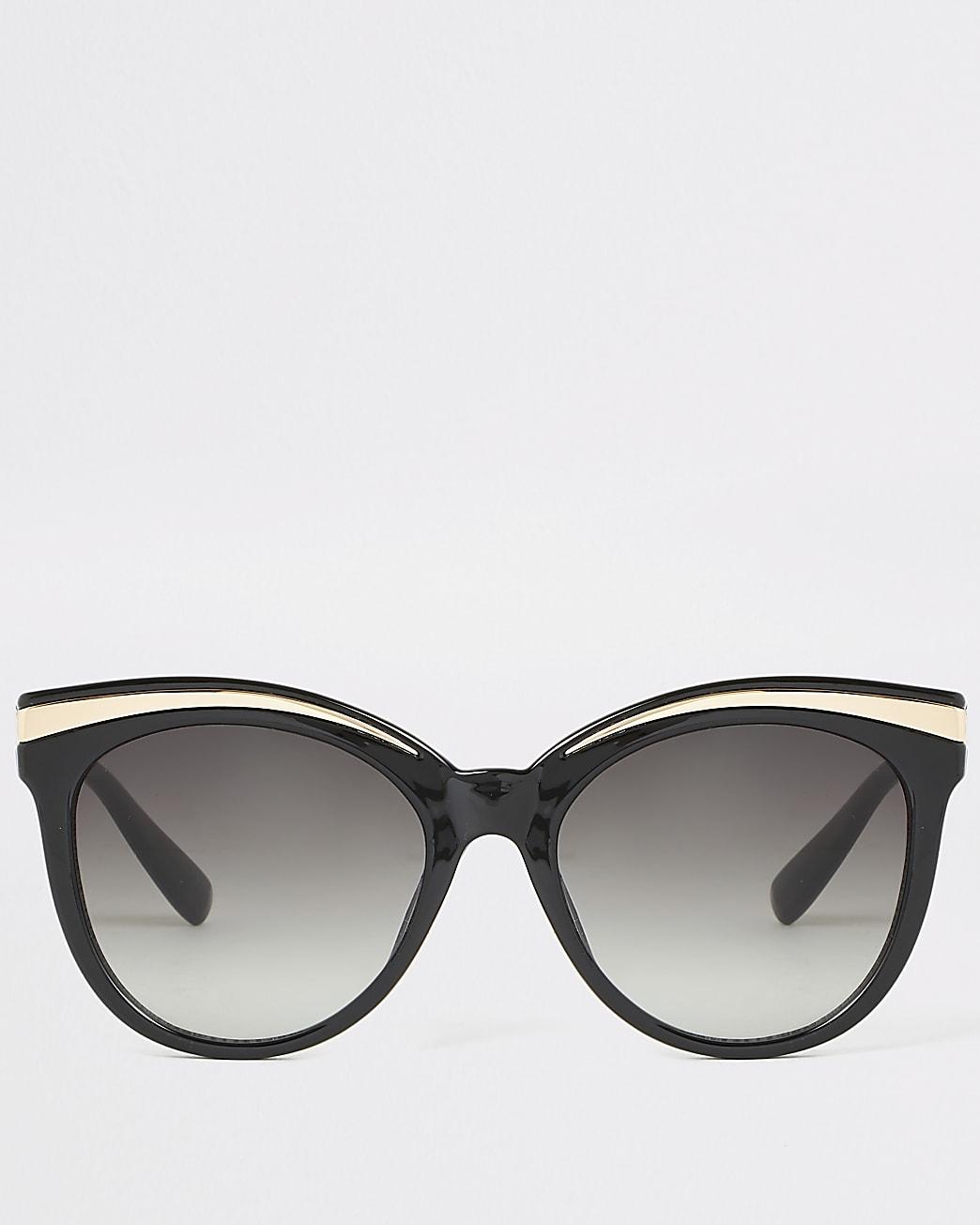Black metal detail glam sunglasses