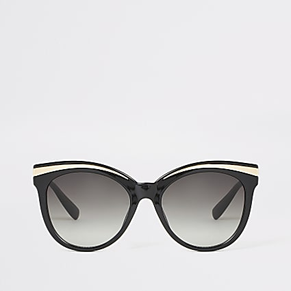 Black metal detail glam sunglasses
