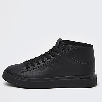 Black mid top trainers