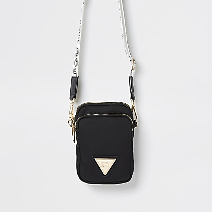 Black mini cross body handbag