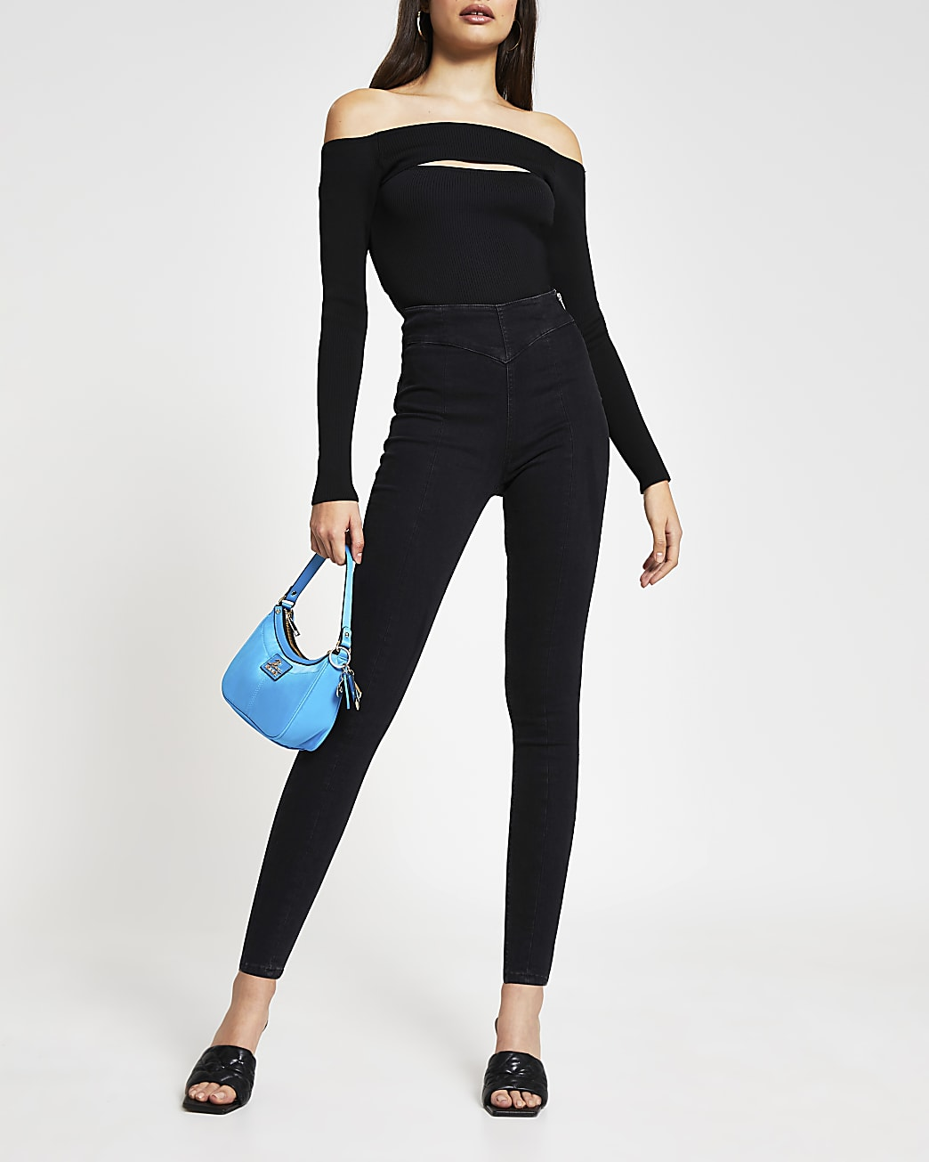 Black Molly high waisted skinny jeans