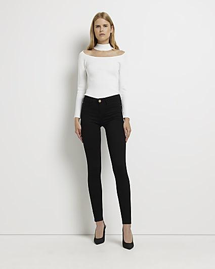 Black Molly low rise bum sculpt skinny jeans