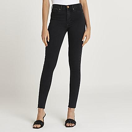 Black Molly mid rise bum sculpt jeans