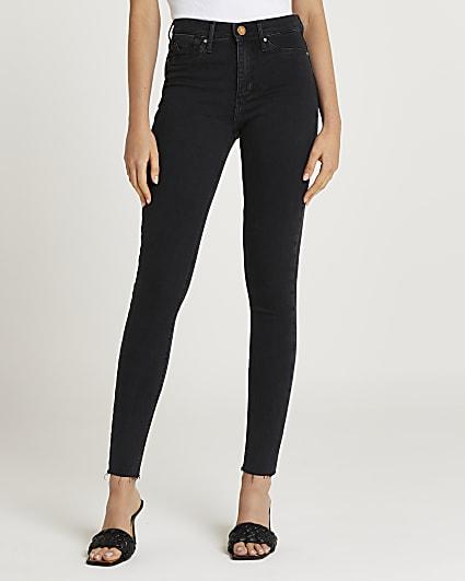 Black Molly mid rise bum sculpt skinny jeans