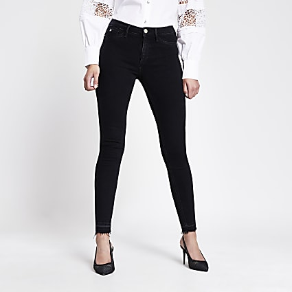 Black Molly mid rise jeggings
