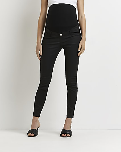 Black Molly mid rise maternity skinny jeans