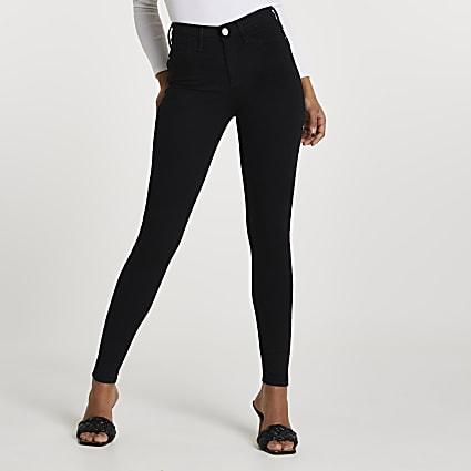 Black Molly mid rise sculpt jeans